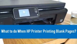 hp printer is printing blank pages